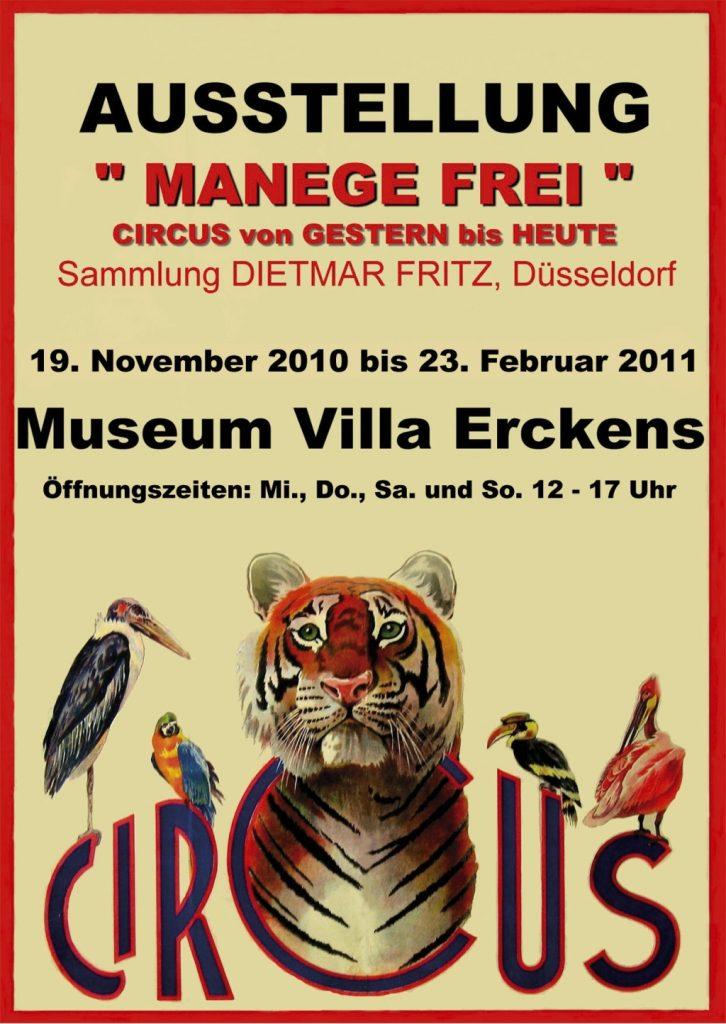 Plakat Ausstellung Manege frei